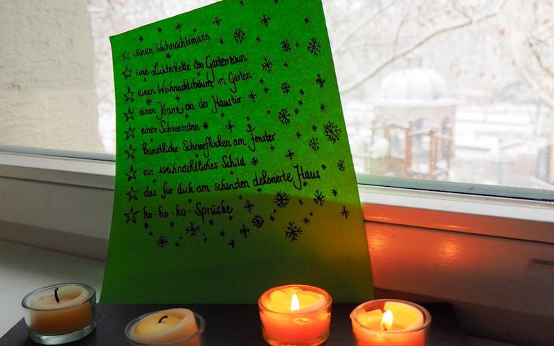 Dativas-weihnachtliche Schnitzeljagd