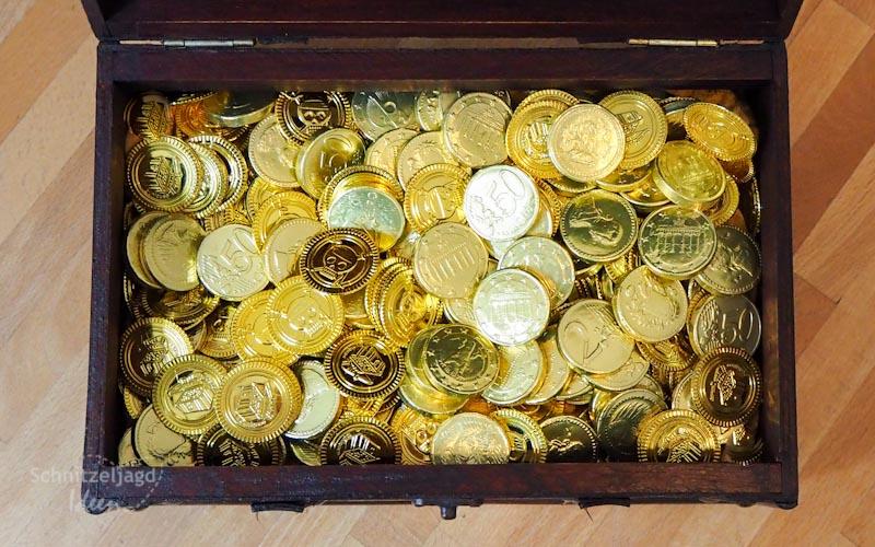 Schokoladenmünzen als Schatz der Schnitzeljagd