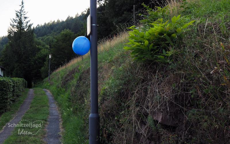 Luftballons für die Schnitzeljagd oder Schatzsuche