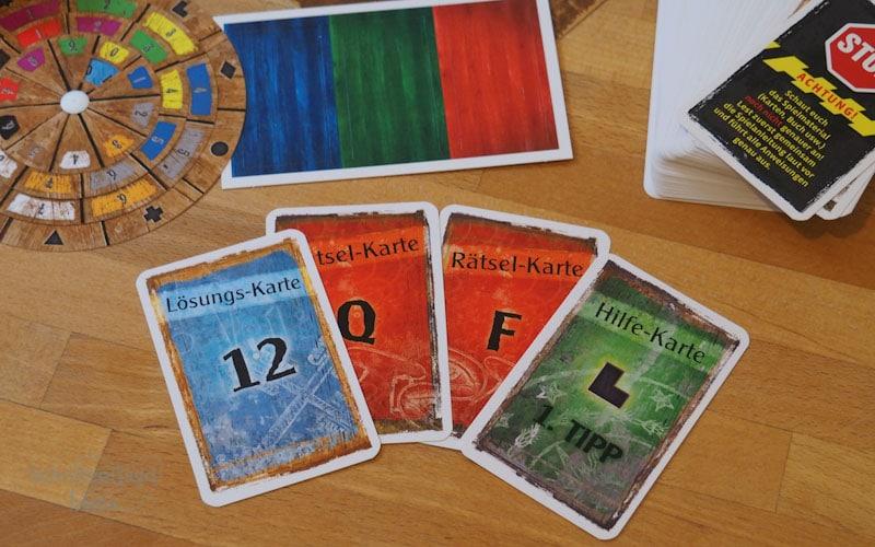 Rtäselkarten des Spiels Die verlassene Hütte