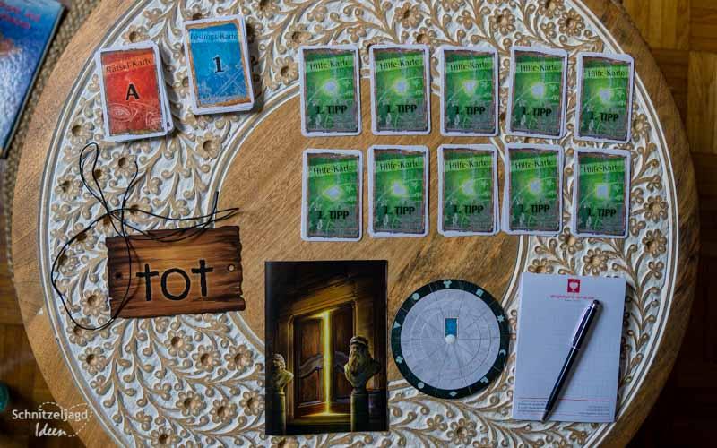 EXIT: Das mysteriöse Museum Spielmaterial