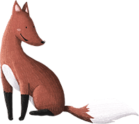 Fuchs aus der Wald-Schnitzeljagd