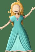 Prinzessin Florina aus der Prinzessin-Schnitzeljagd am Kindergeburtstag