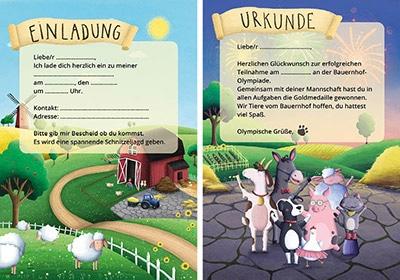 Einladungen Kindergeburtstag: Schnitzeljagd Bauernhof