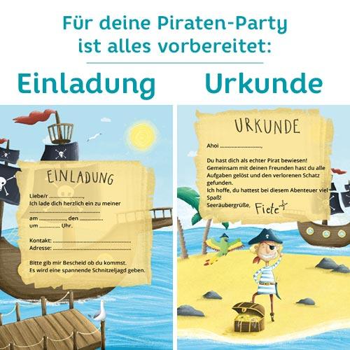 Piraten Geburtstag: Einladungskarten für eine Schnitzeljagd