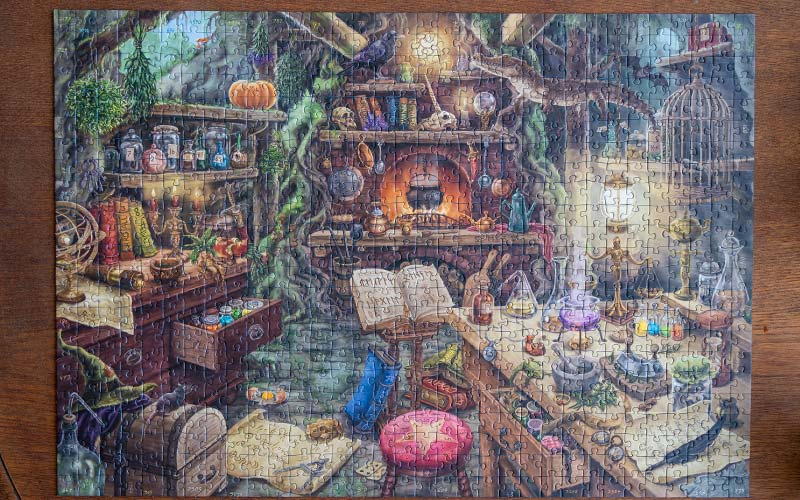 Ravensburger Exit Puzzle Hexenküche: Komplett & gelöst