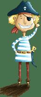 Pirat Fiete aus der Piraten-Schnitzeljagd am Kindergeburtstag