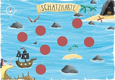 Piraten Schatzkarte für eine Schnitzeljagd