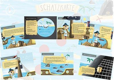Fertige Piraten Schnitzeljagd & Schatzsuche für Kinder