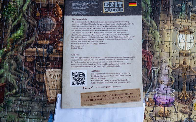 Ravensburger Exit Puzzle Hexenküche: Lösung