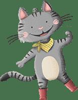 Katze aus der Schnitzeljagd: Bauernhof-Olympiade