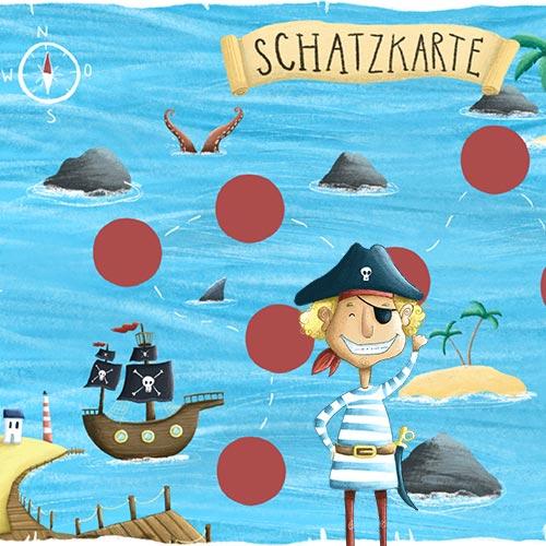 Piraten Schnitzeljagd für Kinder: Fertige Schatzsuche zum Ausdrucken