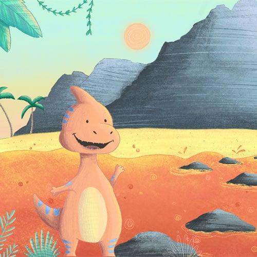 Dinosauerier Schatzsuche: Lavalauf über den Lavasee