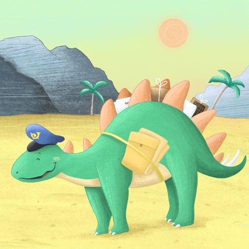 Dinosaurier Stegosaurus aus der Dino-Schnitzeljagd