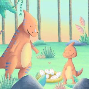 Dino-Schatzsuche am Kindergeburtstag: Die Schnitzeljagd mit Frechosaurus