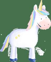 Einhorn Fredi aus der Einhorn-Schatzsuche am Kindergeburtstag
