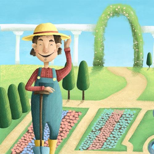 Gärtner Gustav aus der Prinzessin-Schnitzeljagd