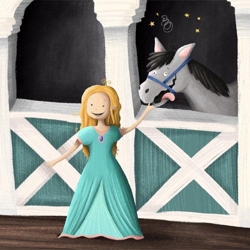 Prinzessin-Schnitzeljagd mit Pferd: Florina und ihr Pferd Komet