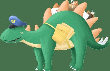 Stegosaurus Dinosaurier aus der Dino-Schatzsuche