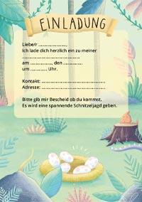 Einladungskarte für den Dino-Kindergeburtstag