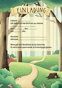 Kindergeburtstag im Wald: Einladungen für die Gäste