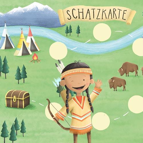 Indianer Schnitzeljagd für Kinder