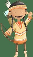 Indianer-Mädchen Ahyoka aus der Indianer-Schnitzeljagd