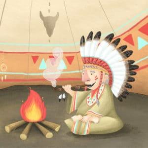 Fertige Indianer-Schnitzeljagd: Indianer Schatzsuche am Kindergeburtstag