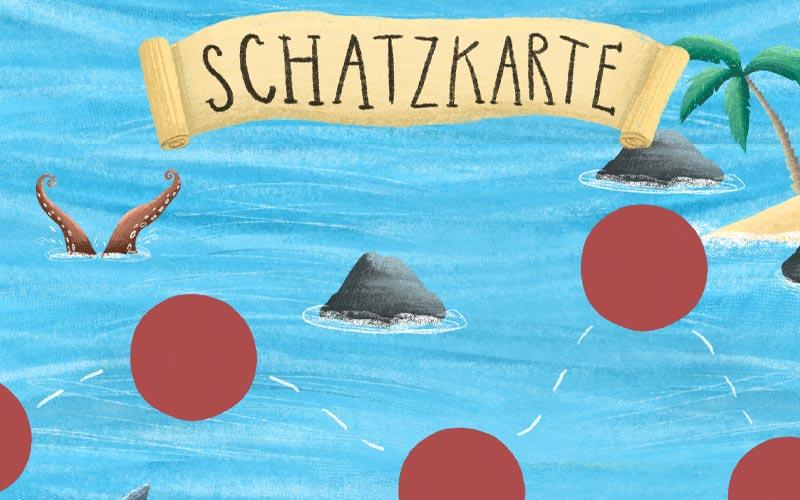 Piraten Schatzkarte: Fertige Piraten Schatzsuche am Kindergeburtstag