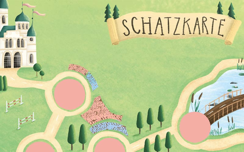 Prinzessin Schnitzeljagd Schatzkarte am Prinzessinnengeburtstag