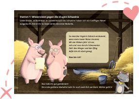 Bauernhof Spiele in der Schnitzeljagd Bauernhof-Olympiade
