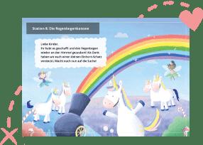 Einhorn-Schatzsuche als perfekte Regenbogen-Schnitzeljagd
