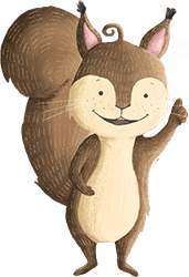 Eichhörnchen Lilo lädt zur Wald-Schnitzeljagd ein