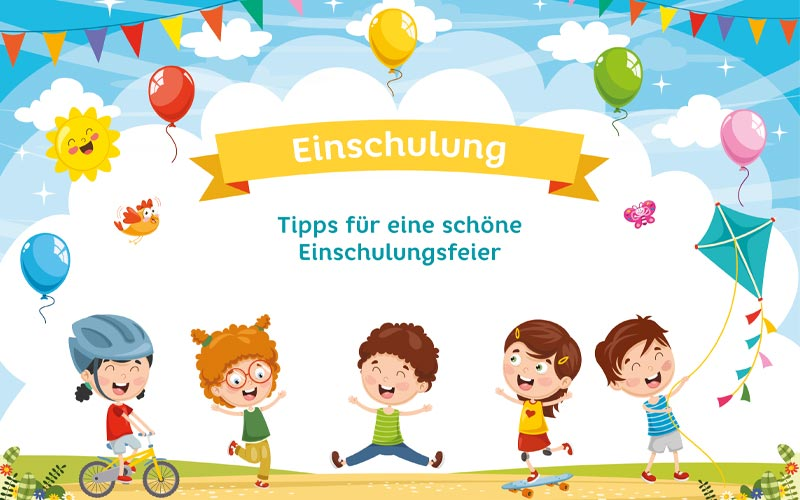 Einschulungsfeier: Ideen & Einladung zur Party am Schulbeginn