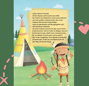 Fertige Indianer-Schnitzeljagd am Kindergeburtstag