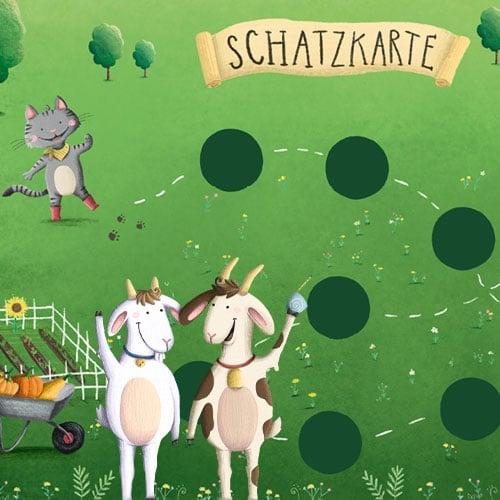 Fertige Schnitzeljagd am Bauernhof-Geburtstag