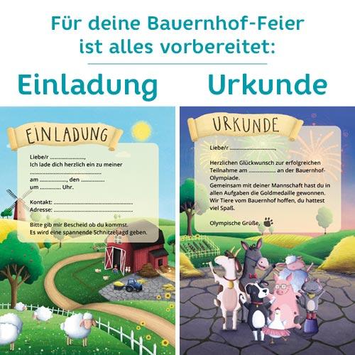 Einladungskarte für Bauernhof Geburtstag