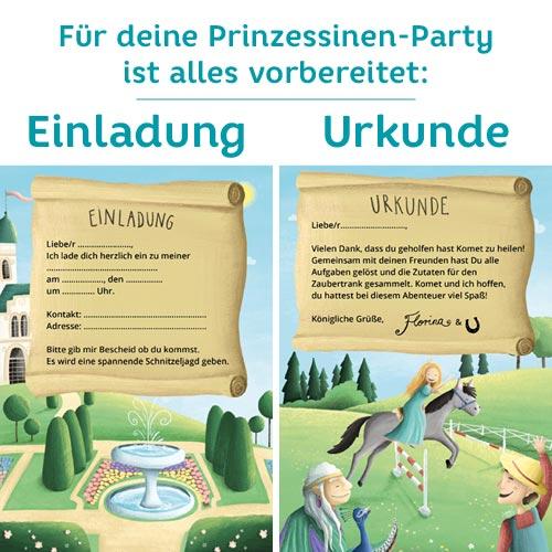 Prinzessin Geburtstag: Einladung & Mitgebsel für den Kindergeburtstag