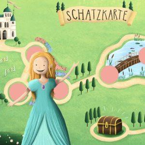 Prinzessin Schnitzeljagd für Kinder: Fertige Schatzsuche zum Ausdrucken