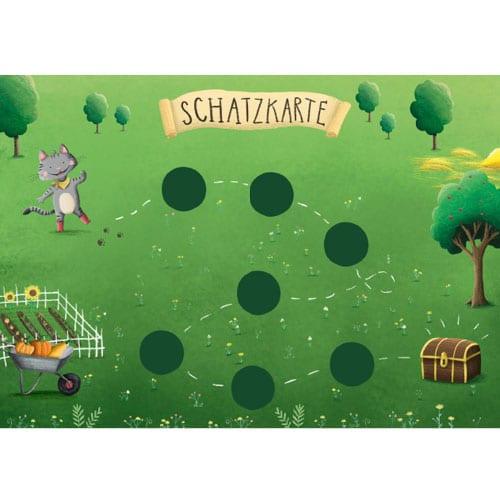 Bauernhof Schnitzeljagd: Schatzkarte für Schatzsuche