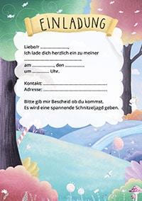 Einladung für Einhorn Geburtstag