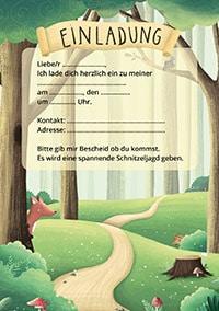 Einladung für Wald-Geburtstag