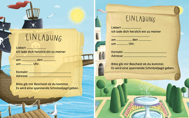 Einladungskarten Kindergeburtstag: Fertige Einladungskarten zum Ausdrucken