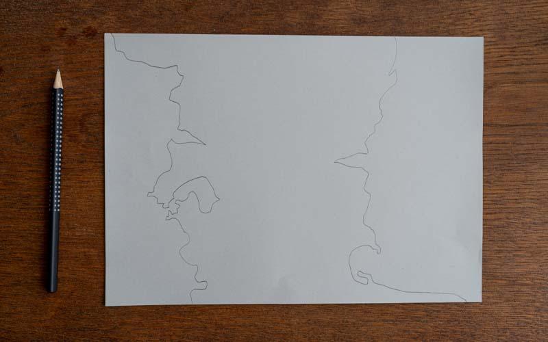 Schritt 1: Umrisse der Schatzkarte malen